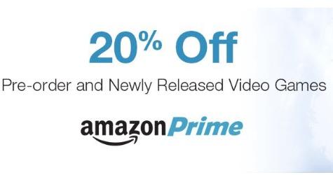 Amazon USA 20% de descuento en preventas de videojuegos solo socios prime