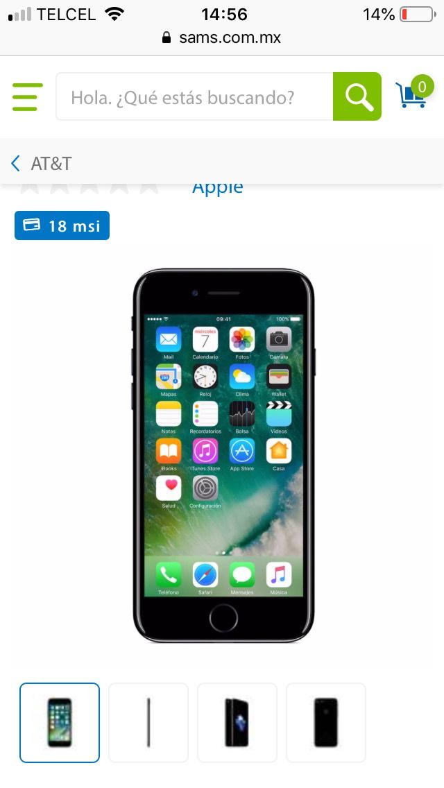 Sam's Club: iPhone 7 32Gb AT&T negro