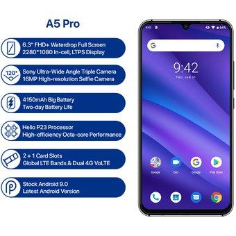 Linio: Umidigi A5 Pro 4G 32GB Gris  (pagando con Paypal)