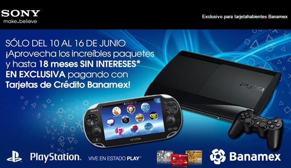 Sony Store: paquetes PS3 y PS Vita a precio especial con Banamex