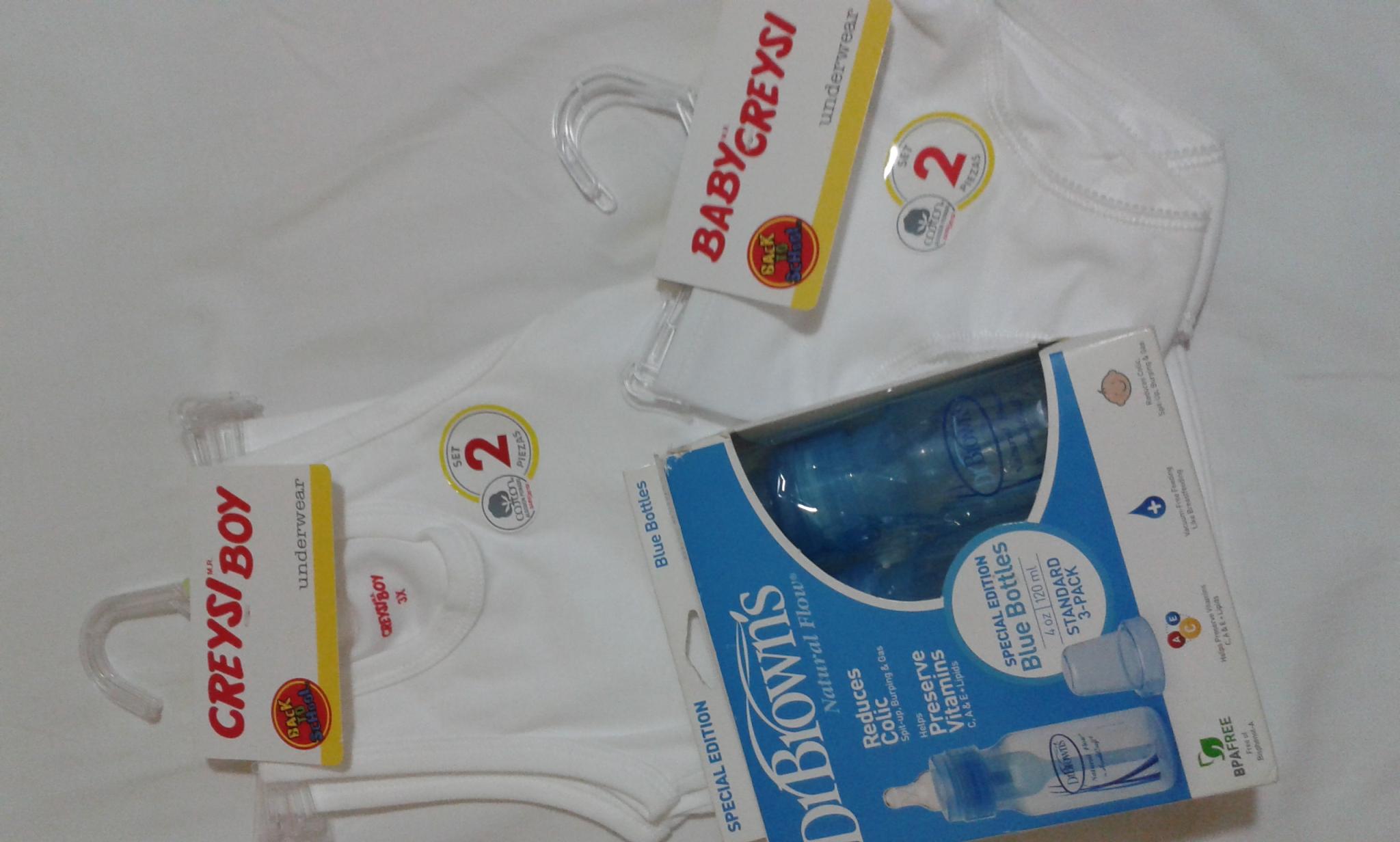 Walmart: Paquete c/2 pzas Ropa Interior BabyCreysi a 30.02 y Paquete con 3 Biberones DrBrowns a 60.01