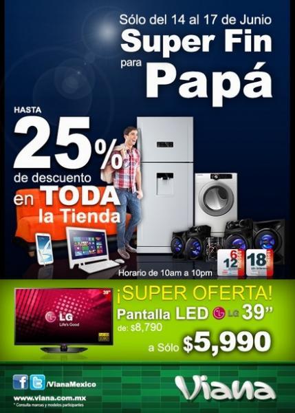 """Viana: pantalla LED LG de 39"""" $5,990"""