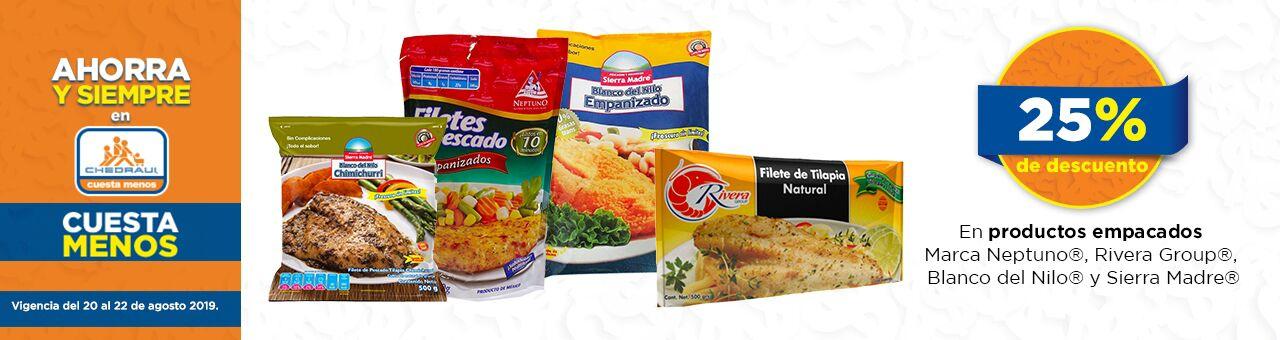 Chedraui: 25% de descuento en productos empacados marca Neptuno, Rivera Group, Blanco del Nilo y Sierra Madre
