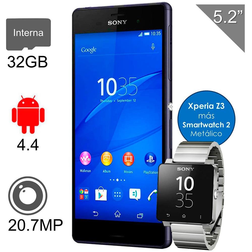 Walmart: Sony Xperia z3 + Smartwatch 2 metálico