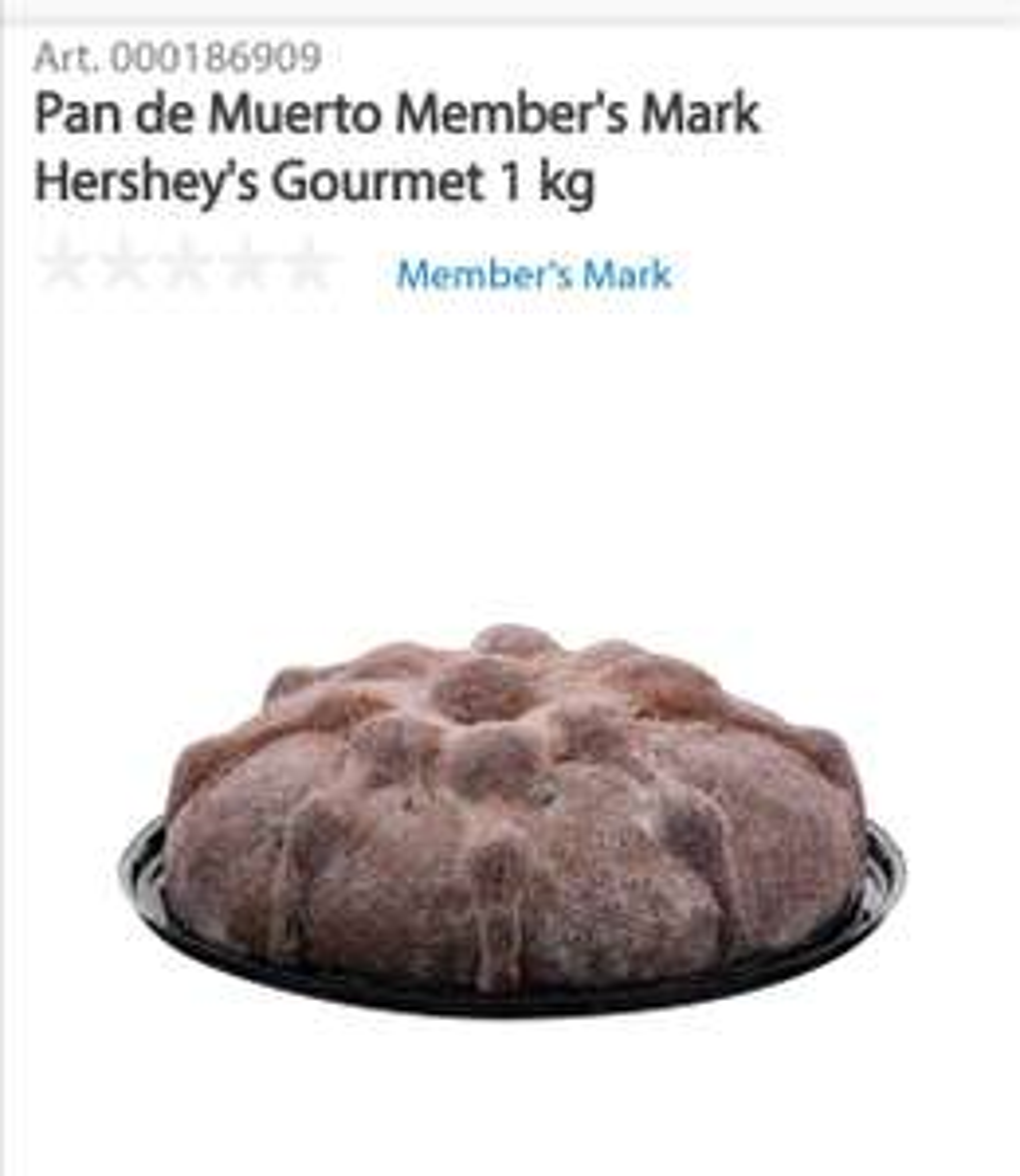Sam's Club Pan de muerto Hershey's Gourmet 1 kg