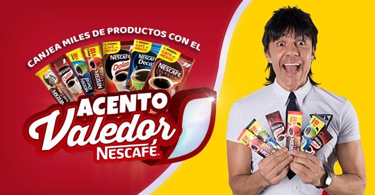 Promoción compra, registra y gana con Acento Valedor Nescafe