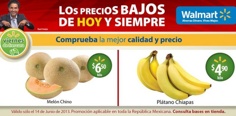 Viernes de frescura Walmart junio 14: plátano $4.90 y más