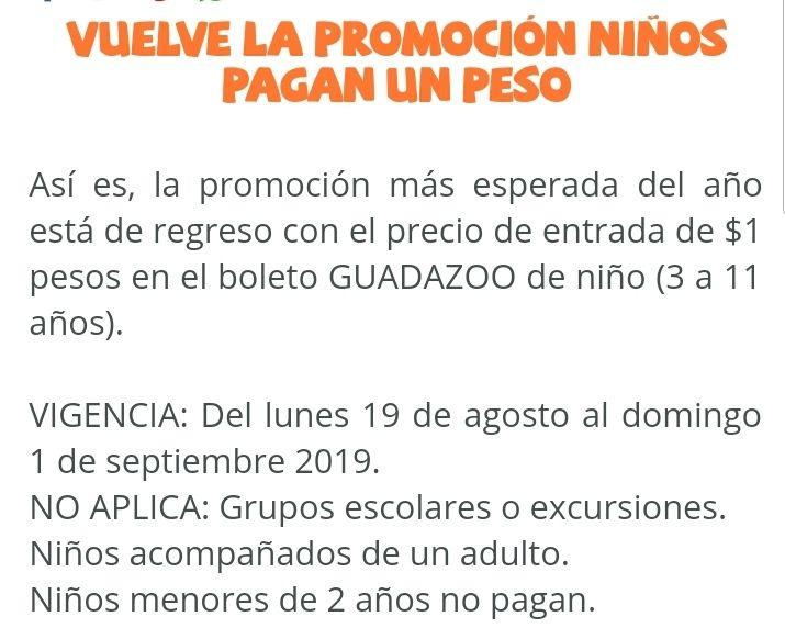 Zoológico de Guadalajara: Niños $1 Adultos $90
