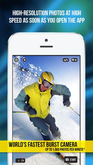 App de Fotografía FASTCAMERA para iOS, GRATIS por 24 horas en iTunes.