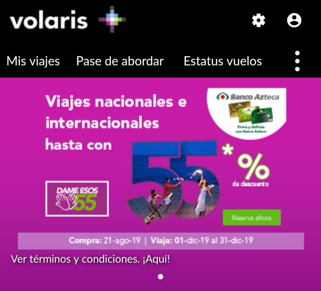 Volaris: hasta 55% de descuento con banco Azteca