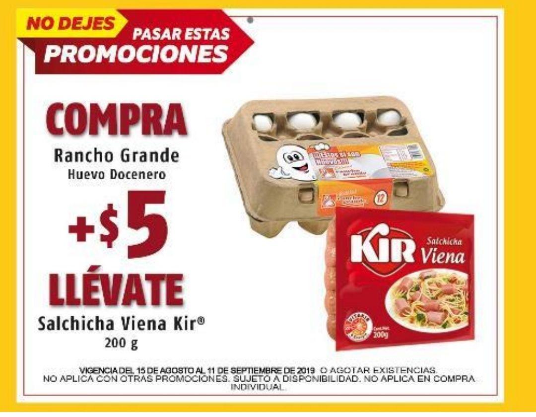 Oxxo: Compra una docena de Huevo docenero más $5 llevate Salchicha Kir Viena