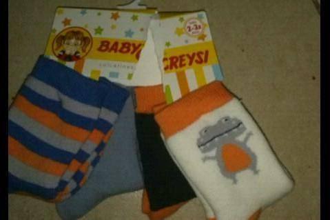 Walmart Xalapa, Calcetín para bebé $30.02 y malla para niña  $30.02