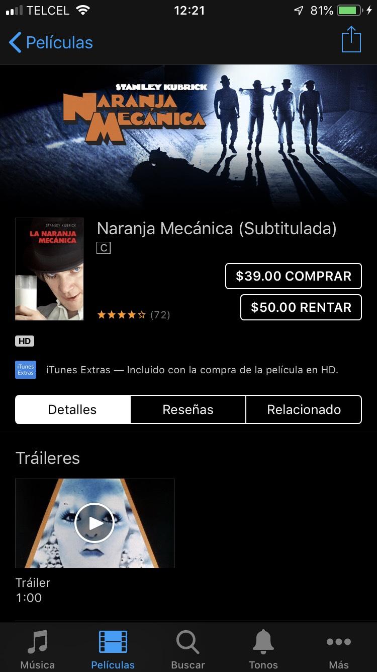 iTunes: Películas de la semana
