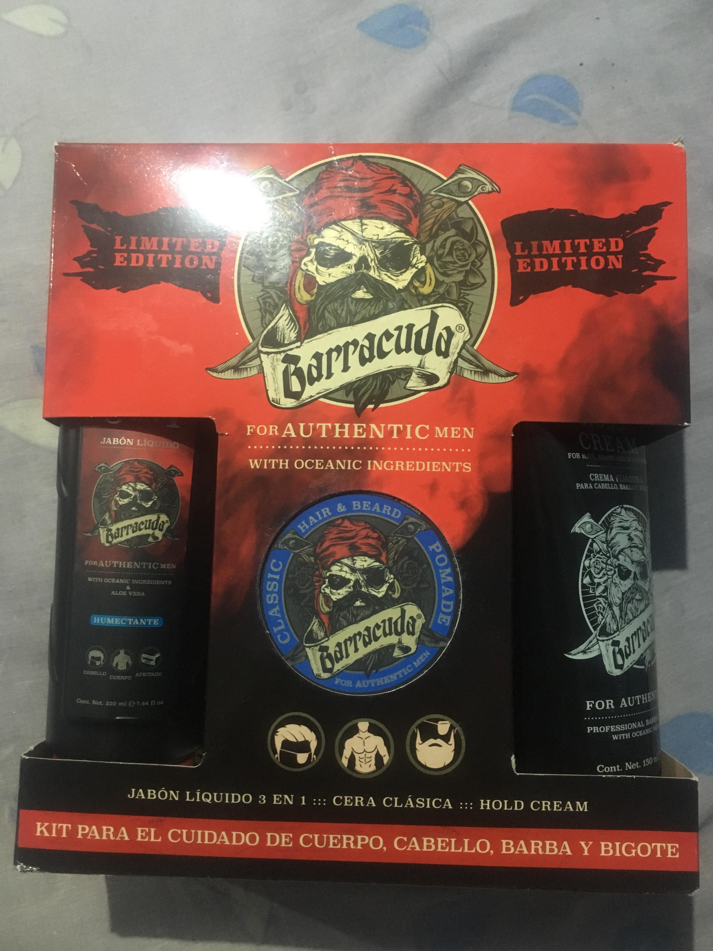 Bodega Aurrerá: kit barracuda (jabón, cera y crema)