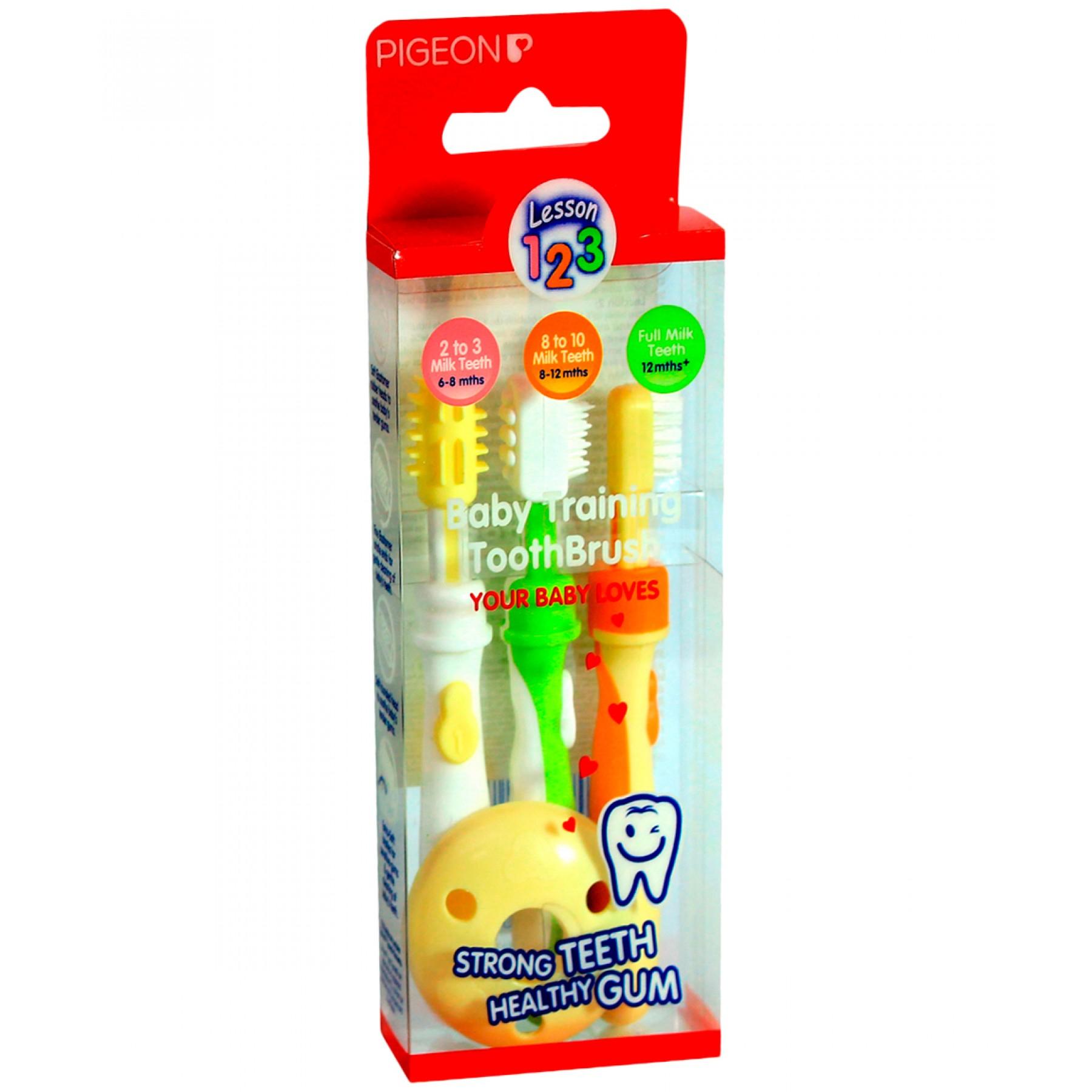Palacio de Hierro en linea: Juego de cepillo dental para bebés marca Pigeon