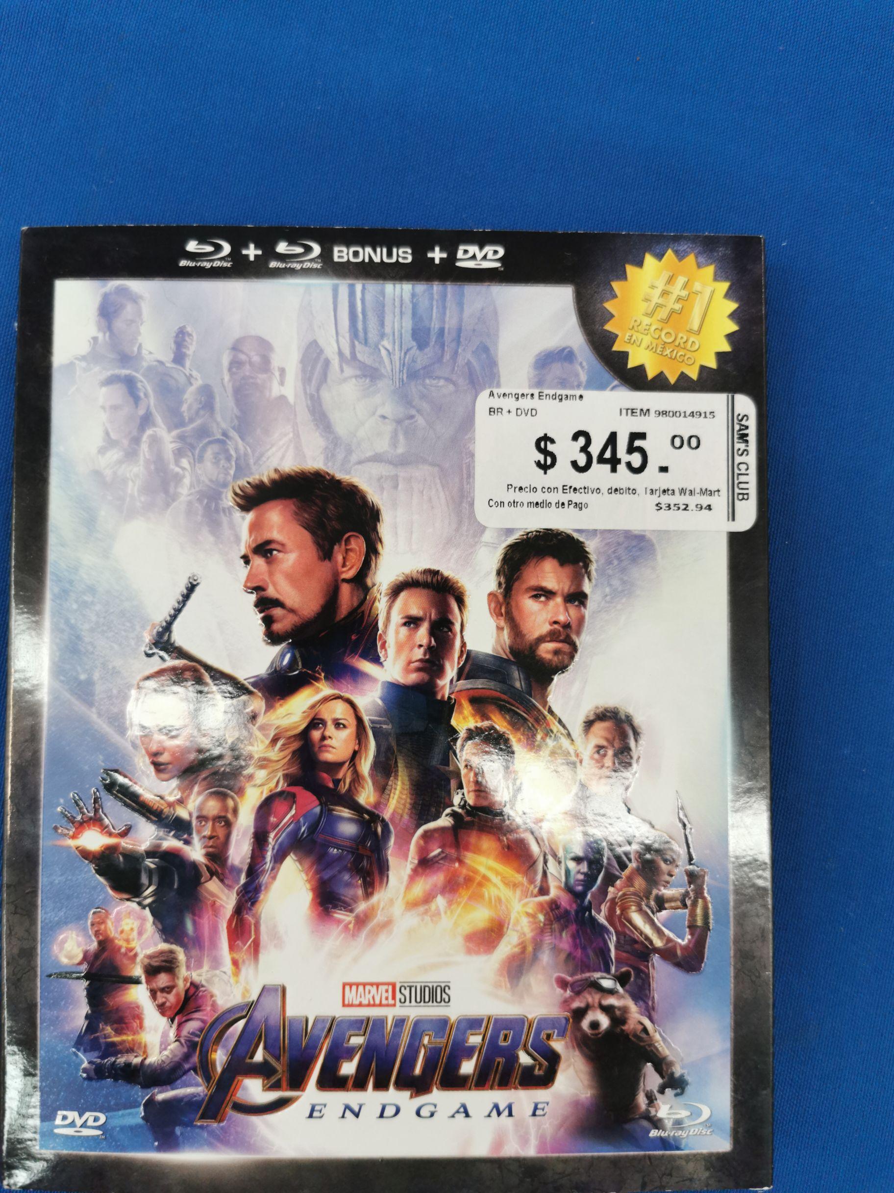 Sam's Club: Película Avengers EndGame 4K extendida