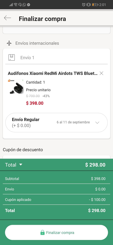 Linio: Xiaomi Redmi Airdots en $298