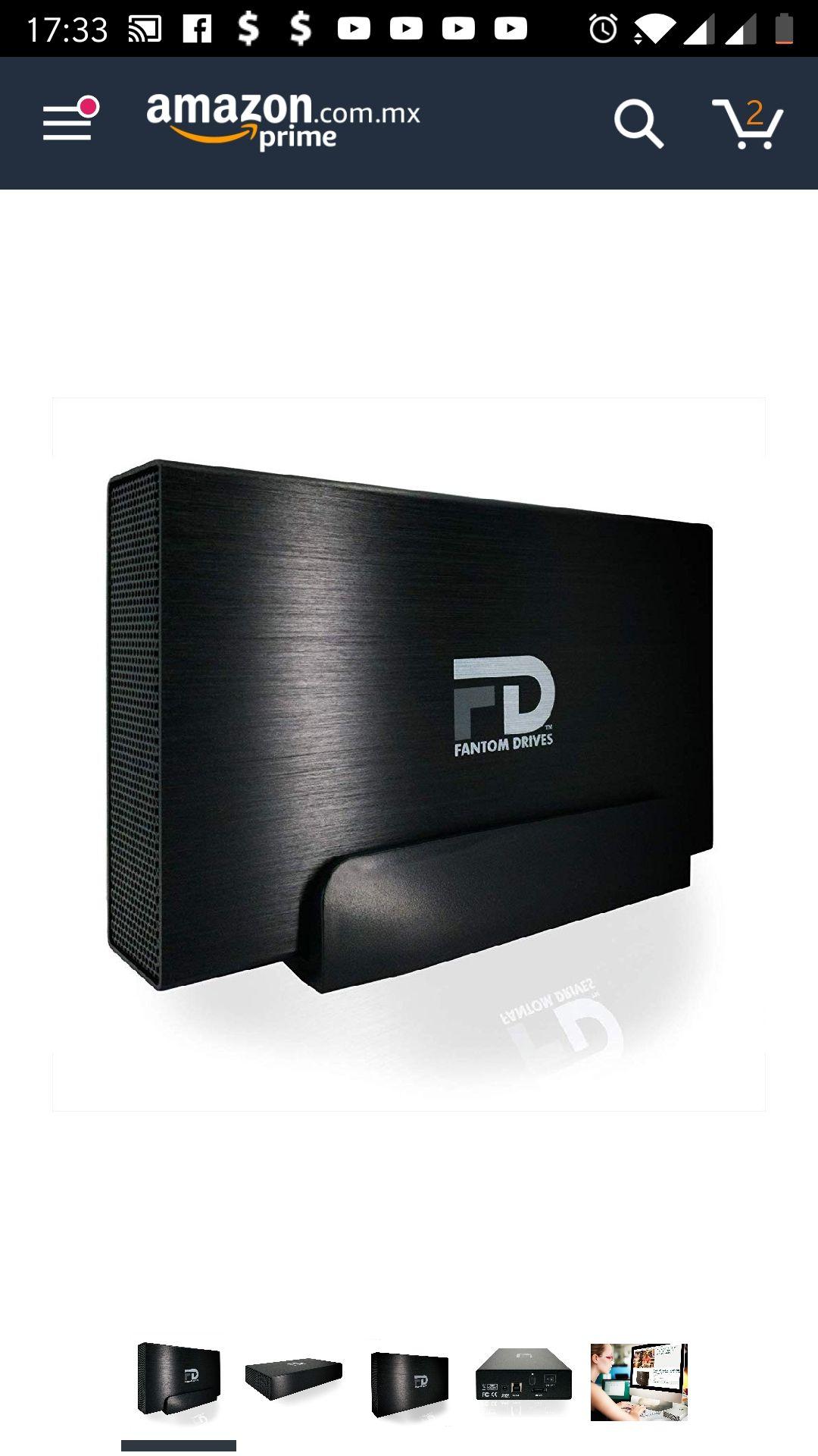 Amazon: Disco duro externo Fantom Drives 5TB