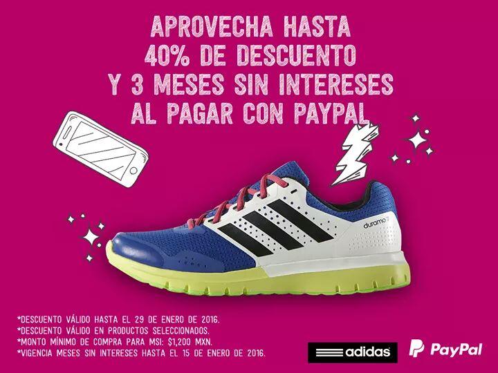 Adidas: 3 MSI con paypal