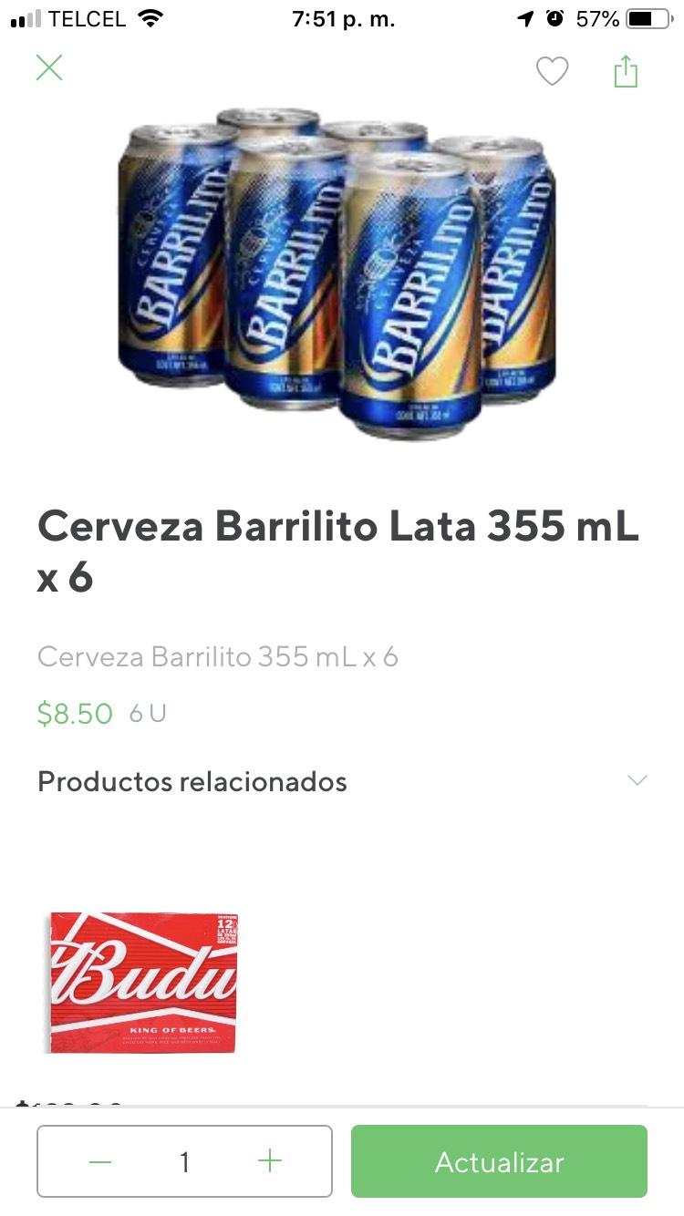 Rappi y 7-Eleven: Cerveza barrilito six lata