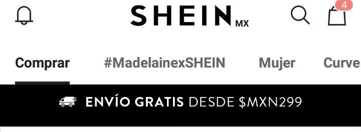 Shein: Envío gratis en compras desde $299