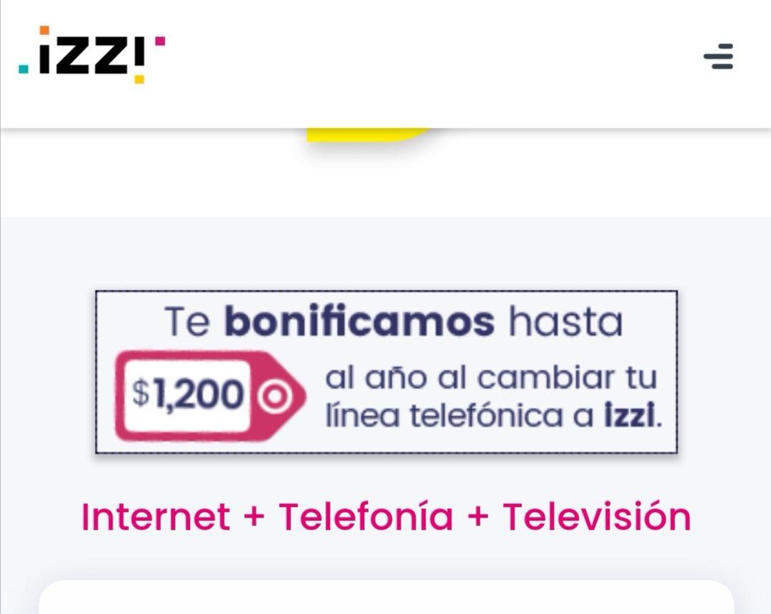 IZZI: Te bonifica 1200 al año por realizar tu portabilidad