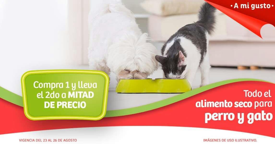 Soriana Híper, Súper y MEGA: 2 x 1½ en todo el alimento seco para perro y gato
