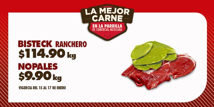 Comercial Mexicana: Fin de semana del 15 al 17 e Enero, Nopales a $9.90 el kilo