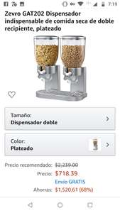 Amazon: Dispensador doble para cereal