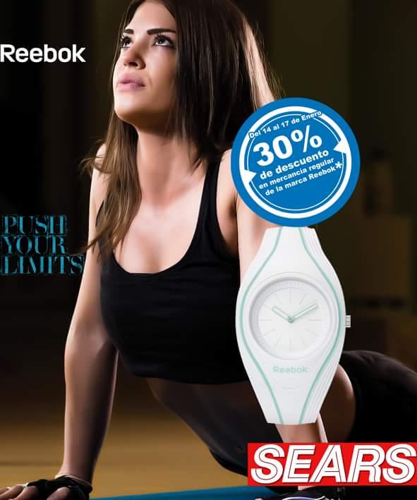 Sears: 30% de descuento en mercancia regular Reebok