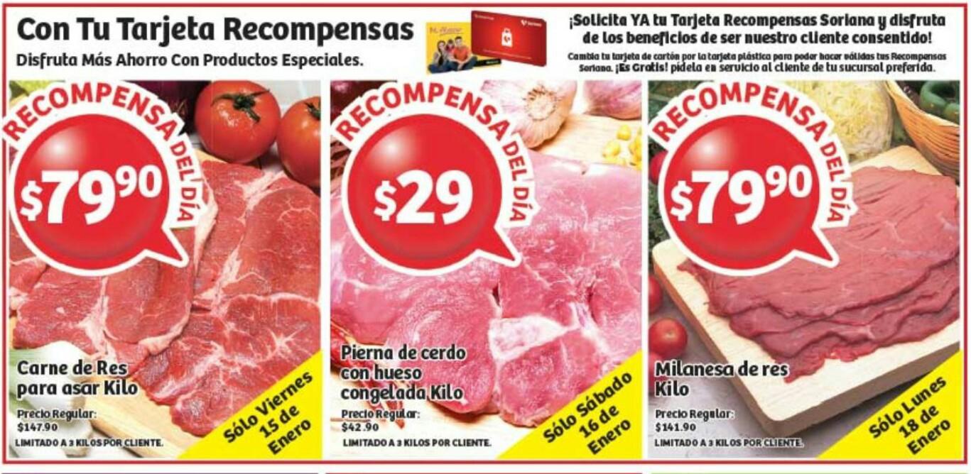 Soriana: ofertas en carnes de viernes a lunes