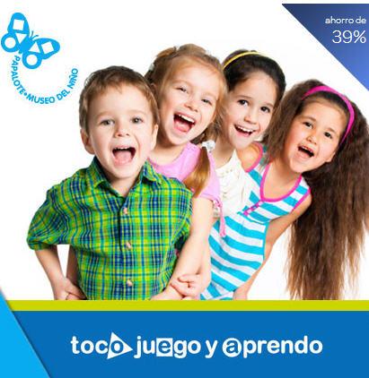 Superpaquete Papalote Museo del Niño $119 (regular $195)