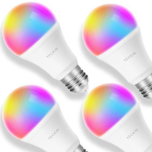 Amazon USA: 4 focos RGB WIFI compatibles con Amazon Alexa/Google Home