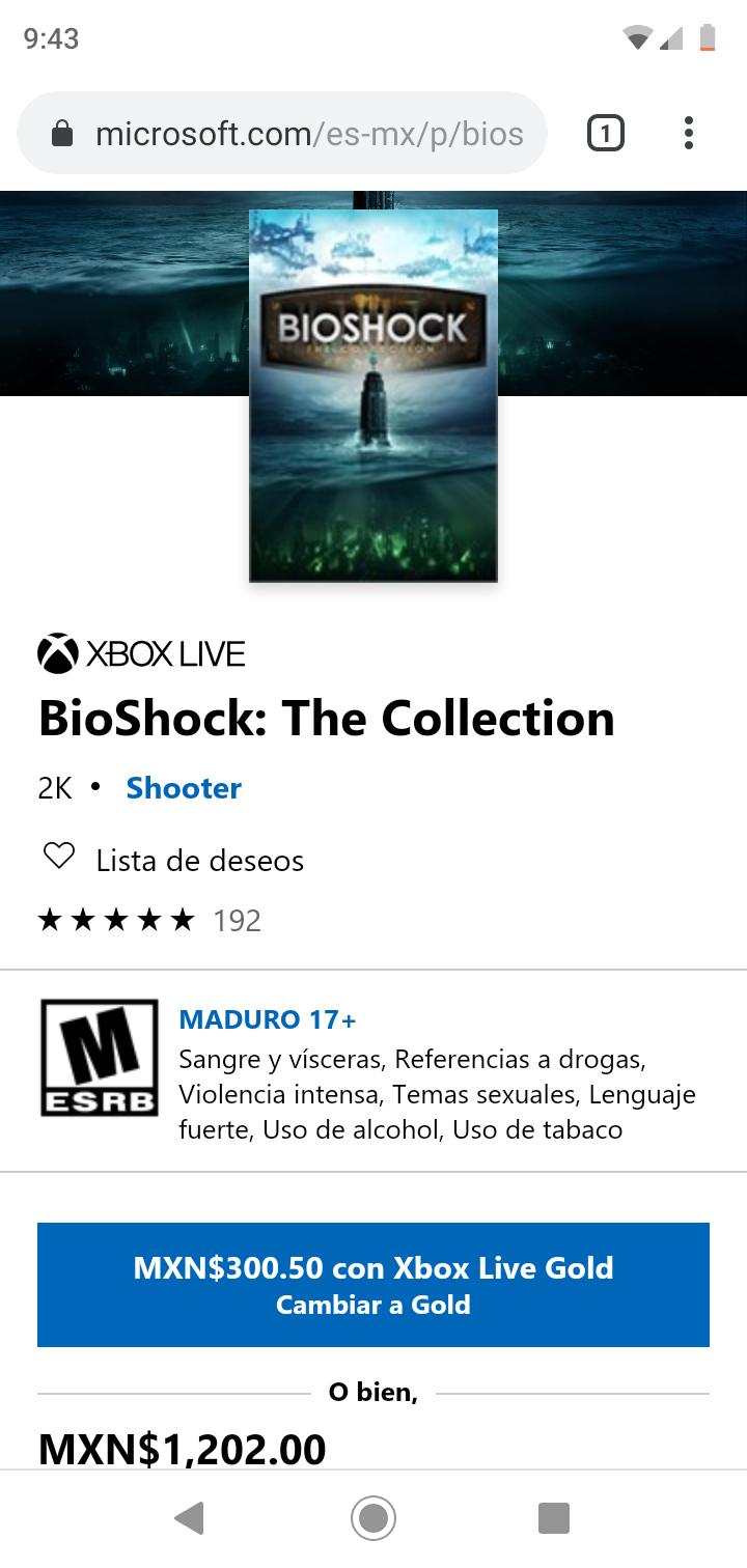 Microsoft Store: Colección de BioShock Xbox