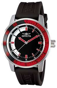 Amazon Invicta 12845 Watch Men's Specialty Black Dial with Red/Black Bezel