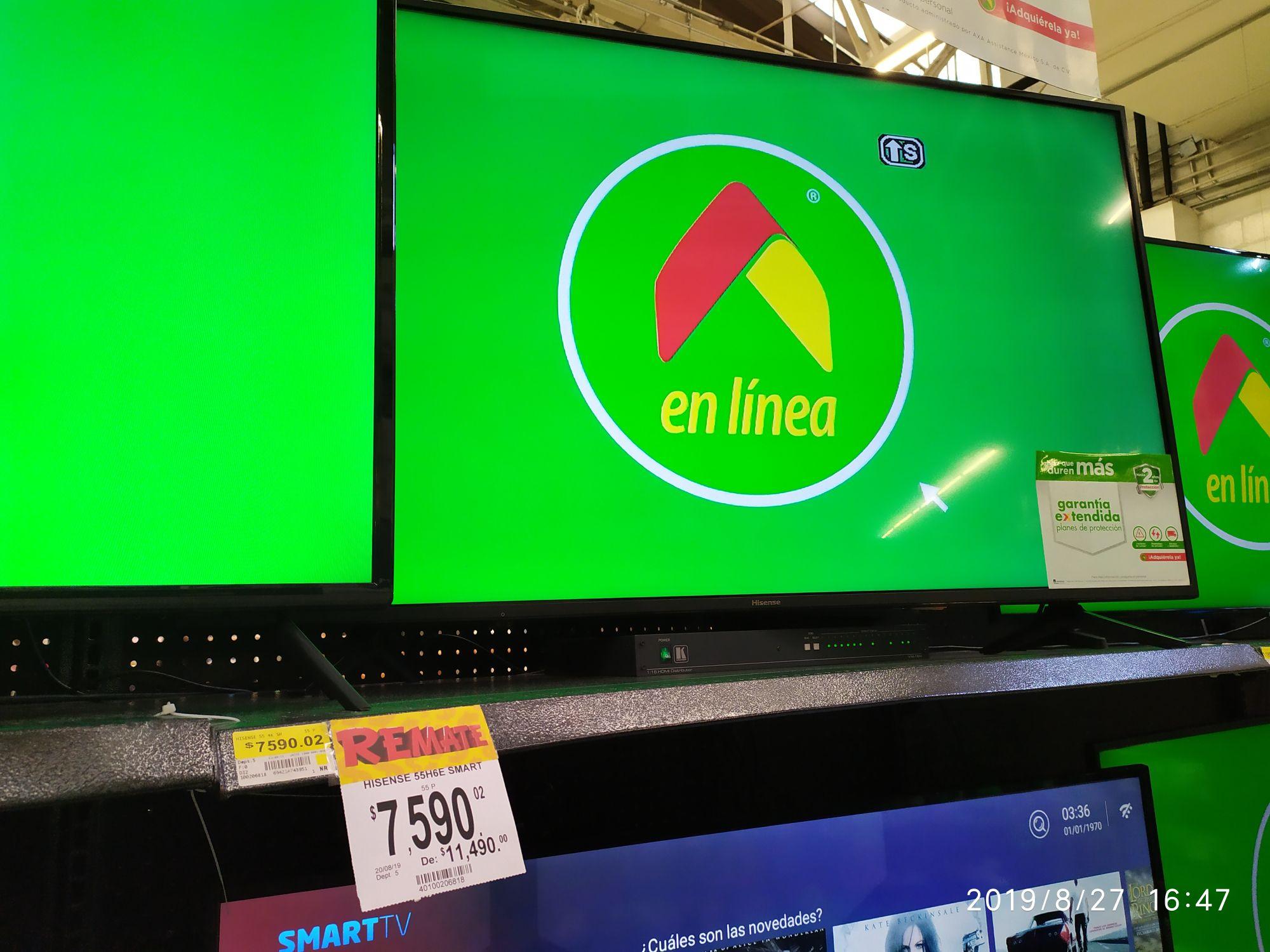 Bodega Aurrerá: Smart tv Hisense 55 pulgadas