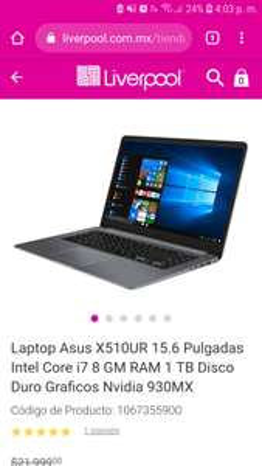 liverpool Laptop asus vivobook