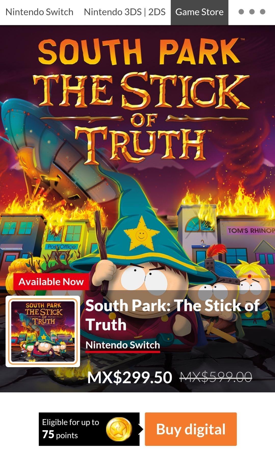 Nintendo eShop: South Park The Stick of True Switch