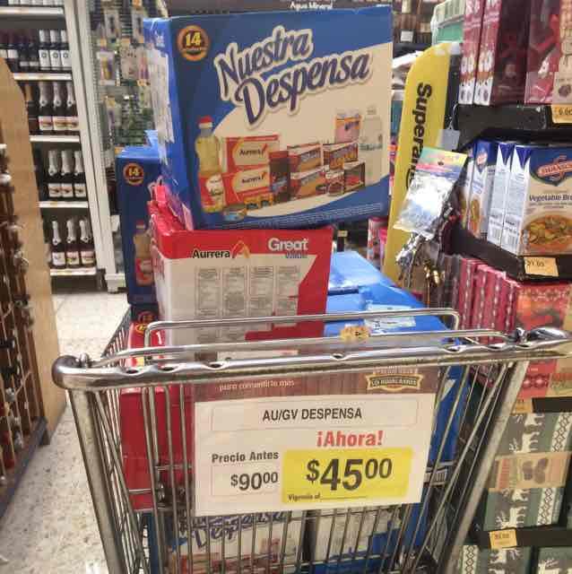 Superama: Despensa 14 artículos $45