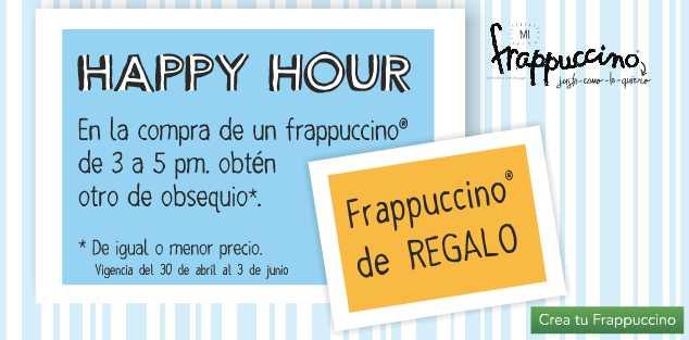 Happy Hour en Starbucks: 2x1 en frappuccinos