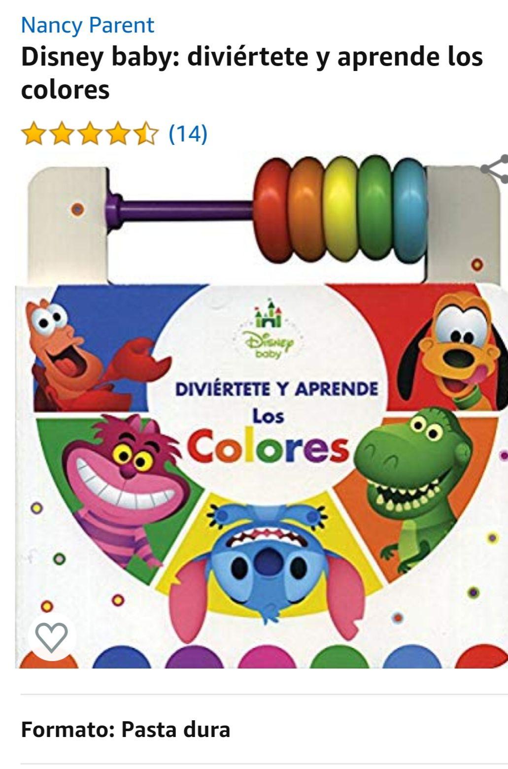 Amazon: libro infantil pasta dura Disney baby: diviértete y aprende los colores