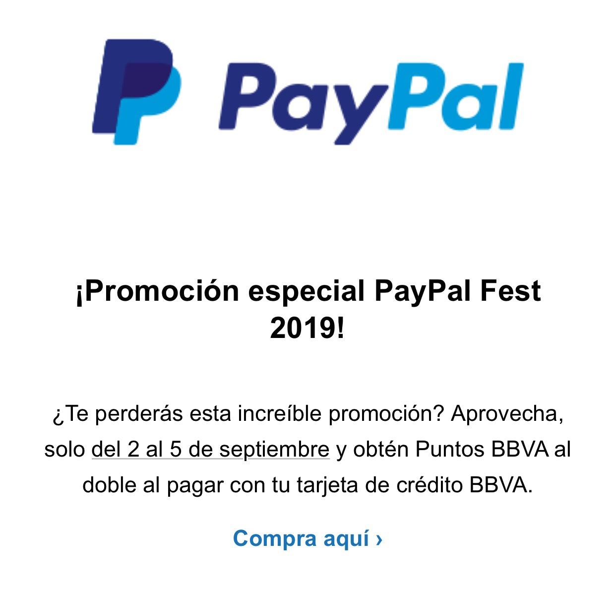 PayPal y BBVA Bancomer: Puntos dobles del 2 al 5 de septiembre