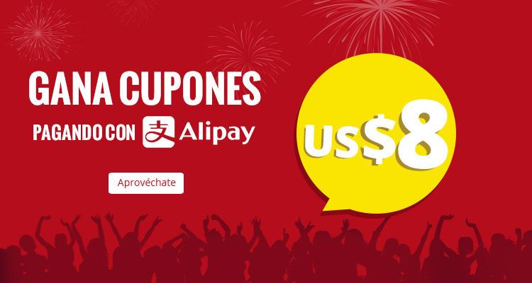 ALIEXPRESS: Ábrete una cuenta de Alipay y llévate un cupón de US $8