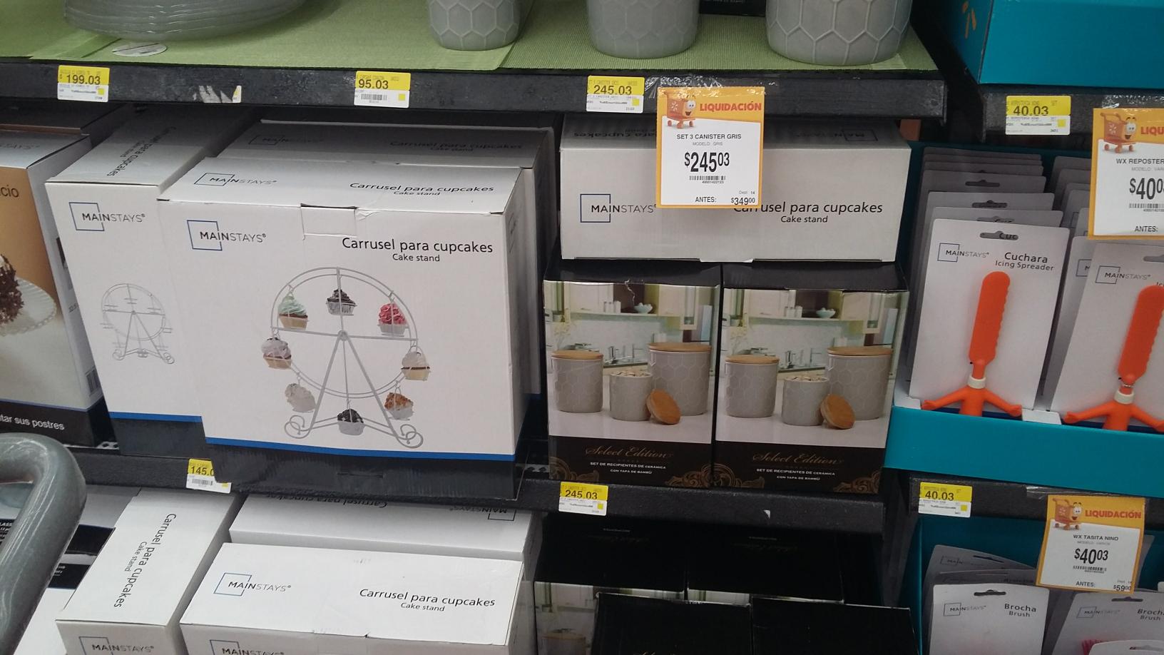 Walmart nativitas varias liquidaciones. Accesorios para reposteria Mainstays $40.03