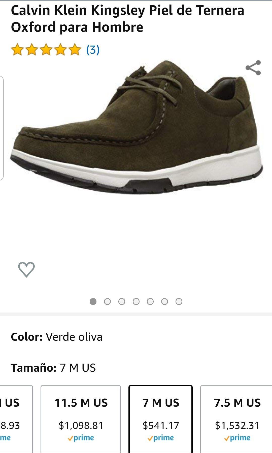 Amazon: Tenis Calvin Klein 7US