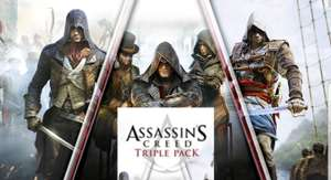 Microsoft Store: 67% de Descuento Pack triple Assassin's Creed: Black Flag, Unity, Syndicate