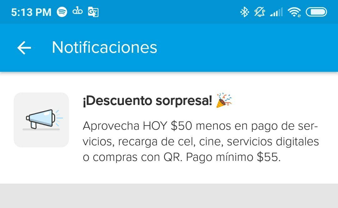 MercadoPago: Descuento de $50 en servicios digitales (usuarios seleccionados)