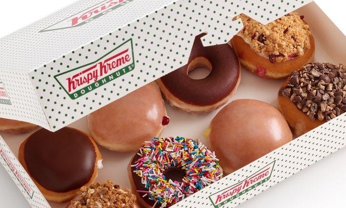 Groupon Krispy Kreme: 12 donas surtidas + 2 cappuccinos $129 (DF)