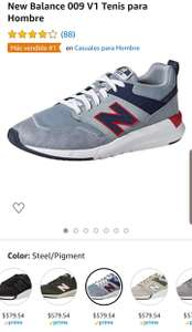 Amazon: Tenis New Balance 009 V1 Todas las tallas.