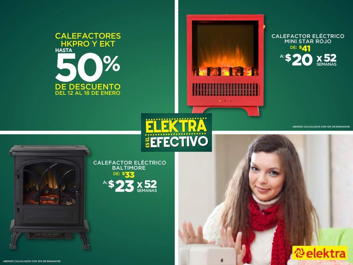 Elektra: Hasta 50% de descuento en Calefactores HKPRO y EKT